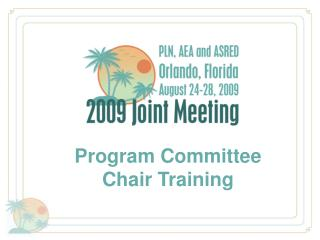 Program Committee  Chair Training