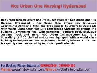 Narsingi New Pre launch Project Hyderabad