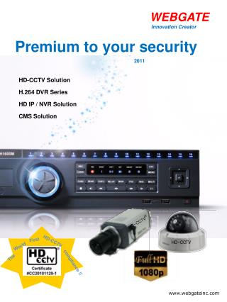 HD-CCTV Solution  H.264 DVR Series  HD IP