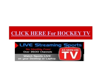 NBC TSN TV Detroit vs Chicago Live Streaming Free NHL 2011 R