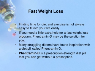 Fast Weight Loss Pills