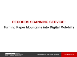 Records Scanning Service: Turning Paper Mountains into Digi