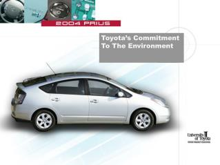 Toyota's Commitment To The Environment
