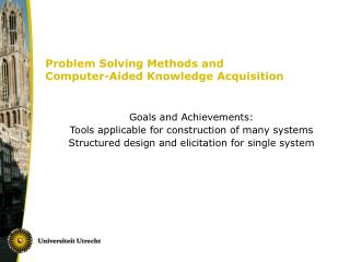 Problem Solving Methods and Computer-Aided Knowledge Acquisition