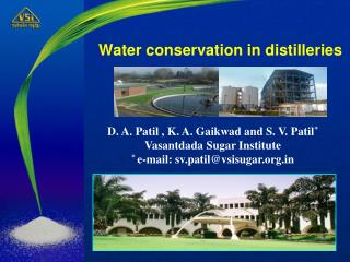Water conservation in distilleries