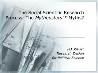 The Social Scientific Research Process: The  Mythbusters' TM  Myths?