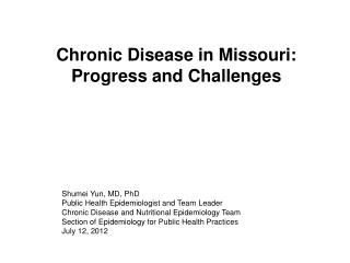 Chronic Disease in Missouri: Progress and Challenges
