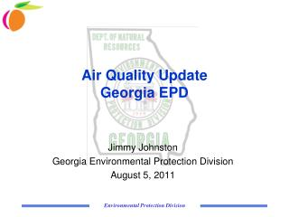 Air Quality Update  Georgia EPD