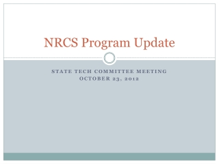 NRCS Program Update
