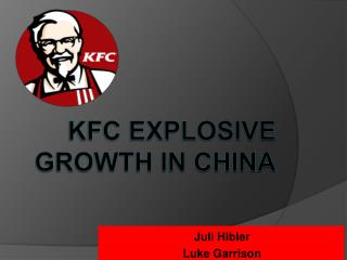 KFC Explosive Growth in China