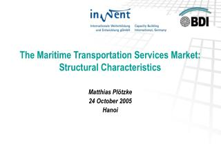 The Maritime Transportation Services Market: Structural Characteristics