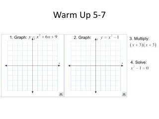 Warm Up 5-7
