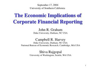 The Economic Implications of  Corporate Financial Reporting