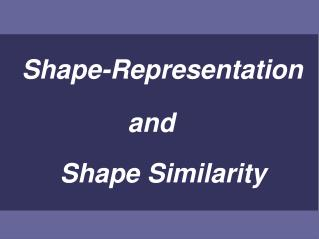 Shape-Representation