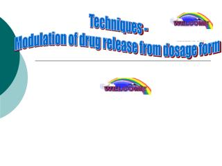 Techniques - Modulation of drug release from dosage form
