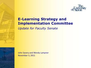 E-Learning Strategy and Implementation Committee