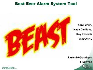 Best Ever Alarm System Tool