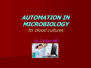 Automation in Microbiology