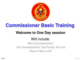 Commissioner Basic Training