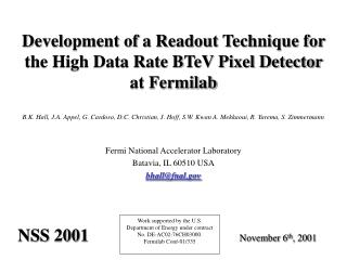 Development of a Readout Technique for the High Data Rate BTeV Pixel Detector at Fermilab