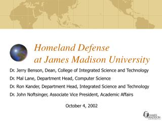 Homeland Defense at James Madison University