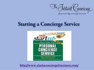 Start a Personal Concierge Business