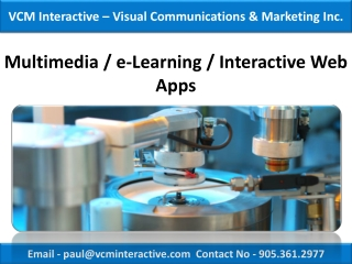 Web Application,Toronto-VCM Interactive