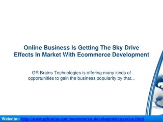 Online Business Is Getting The Sky Drive Effects In Market
