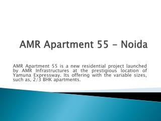 AMR Apartment 55 noida 9717401118