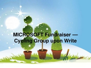 MICROSOFT Fundraiser — Cycling Group upon Write