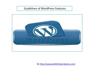 Wordpress Features Guidelines