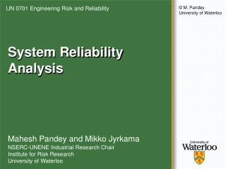 System Reliability Analysis