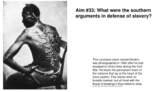 Aim #33: What were the southern arguments in defense of slavery?