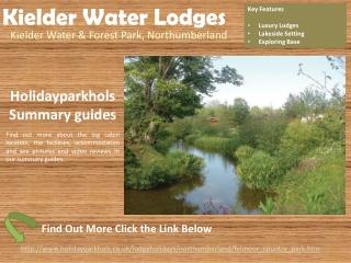 Lodge Parks in Northumberland Kielder Water Lodges