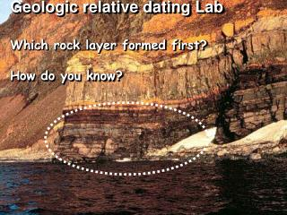 Relative Dating   Lab   Which geologic event occurred first