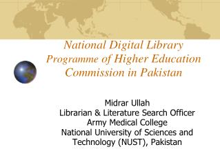National Digital Library  Programme  of Higher Education Commission in Pakistan