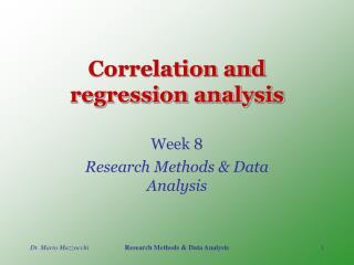 Correlation and regression analysis