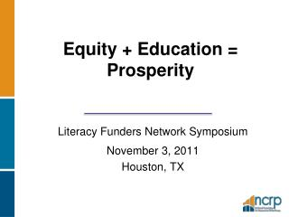Equity  Education  Prosperity
