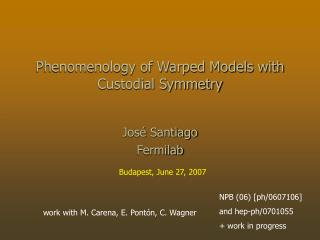 Phenomenology of Warped Models with Custodial Symmetry