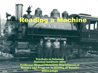 Reading a Machine
