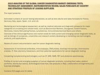 2013 Analysis of the Global Coagulation Testing Market: Emer
