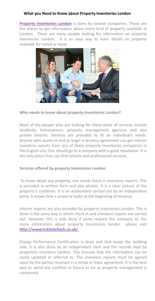 What you Need to Know about Property Inventories London