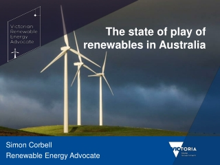 The state of play of renewables in Australia