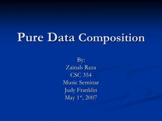 Pure Data  Composition
