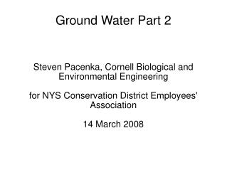 Ground Water Part 2
