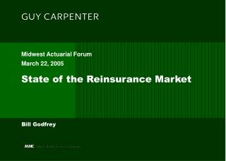 State of the Reinsurance Market