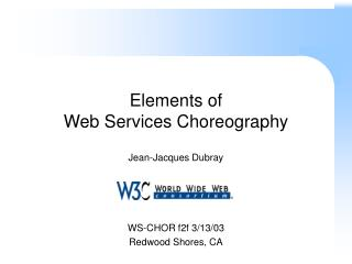 Elements of  Web Services Choreography