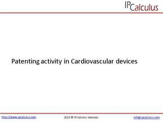 IPCalculus - Patenting activity in Cardiovascular Devices