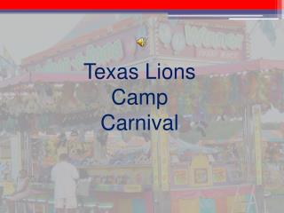Texas Lions Camp Carnival