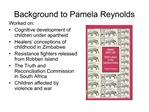 Background to Pamela Reynolds